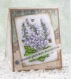 Bees in Foxglove Digital Stamp Set