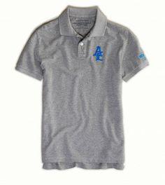 8f4f8d171737a Polo American Eagle Men s AE NYC Polo Derby Grey Heather  American Eagle Polo  · Polo Collar ShirtsPolo ...