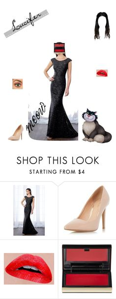 """""""Villains: Lucifer"""" by www-nyny ❤ liked on Polyvore featuring Cameron Blake, Dorothy Perkins and Kevyn Aucoin"""