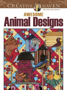 Awesome Animal Designs Adult Coloring Book