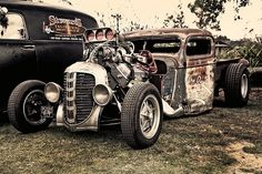Hot rod Hot rods and Custom cars. Sometimes classic cars but mostly early hotrods and rat rods or custom cars like lowriders. Rat Rod Cars, Hot Rod Trucks, Cool Trucks, Cool Cars, Hot Rods, Hot Rod Pickup, Rat Look, Pt Cruiser, Daddy