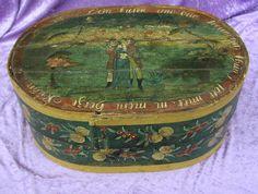 Alte Spanschachtel Biedermeierzeit UM 1820 Maße CA 30 cm x 45 cm Bentwood Box   eBay