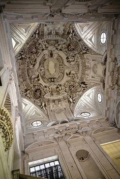 Stairwell Dome at Sevilla Museo de Bellas Artes - Seville Spain