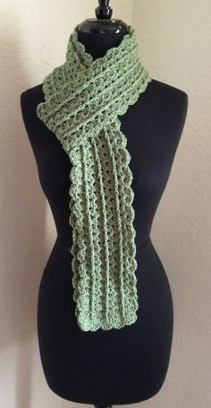 Set Of 2 Crochet Scarves Sage Green and Burgandy BTS XMAS. $20.00, via Etsy.