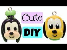 Disney Polymer Clay Charms | Goofy & Pluto | Tutorial