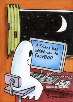 Ghost funny cartoons from CartoonStock directory - the world's largest on-line collection of cartoons and comics. Ghost Comic, Ghost Cartoon, Funny Ghost, Cute Ghost, Ghost Humor, Funny Cartoon Quotes, Funny Puns, Funny Cartoons, Funny Comics