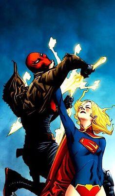 Red Hood vs Supergirl by Jae Lee