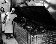 Kruez Market BBQ Pit, Lockhart, Texas, 1950-1960.