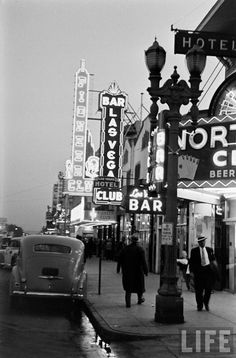 Vintage Las Vegas - early Fremont Street photo (Peter Stackpole, 1942)