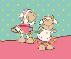 Sheep Hula Hooping