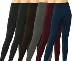 6Pack Womens DK Monarchy Seamless Fleece Lined Leggings  Assorted Colors >>> More info could be found at the image url. (Note:Amazon affiliate link)