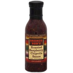 Bronco Bob's Roasted Raspberry Chipotle Sauce, 15.75 oz (Pack of 6)  I love dipping a quesadilla in it! Just a tortilla, with a little monterey jack or other mild cheese (NOT cheddar...but monterey, mozzarella, pepper jack, or maybe swiss). Super delicious!