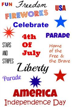 Free fourth of July printable - perfect for framing!