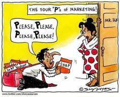 Já sabem quais são os 4P's do Marketing? #marketingjoke