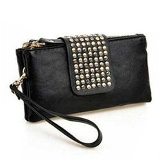 Western Punk Style Pure Black Color with Buttons Women's Cluthes