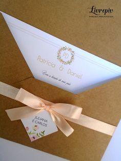 Convite Rústico - CV 178 - Livrepix Convites e Papelaria Personalizada