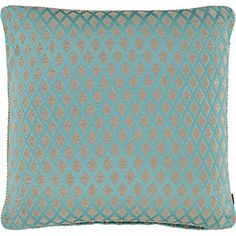 Turquoise and Brown Tone Cushion 50x50