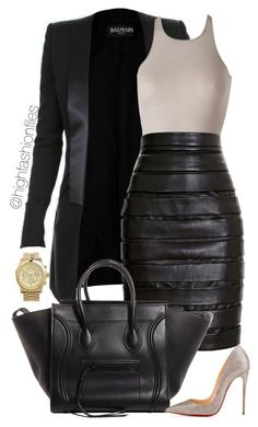 """""""Making Moments"""" by highfashionfiles ❤ liked on Polyvore featuring Balmain, Rick Owens, Christian Louboutin and MICHAEL Michael Kors"""