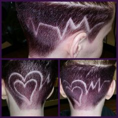 #undercut #heart #beat #pulse #custom #shaved #straightrazor #creative #utah #local