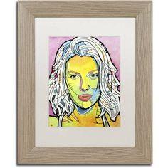 Trademark Fine Art Skin Deep Canvas Art by Dean Russo, White Matte, Birch Frame, Size: 16 x 20, Brown