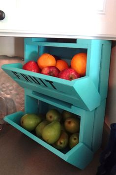 caBINet cabNEAT  Kitchen Fruit Bin Crate by DellaLucilleDesigns, $29.99.  I must have this!!!!