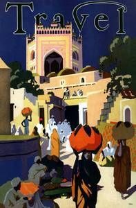 1934 Moroccan travel poster
