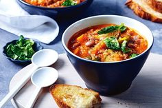 This hearty, comforting soup is also packed full of vegetables. Feel good food that's also good for you.