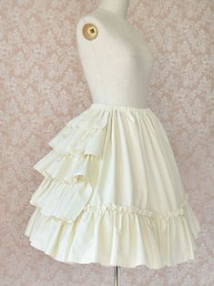 SKIRT Underskirt | Frill Cotton Under Skirt - Victorian Maiden |:| Lolita