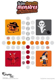 Le jeu des petits monstres d'Halloween offert par GraphiCK-Kids