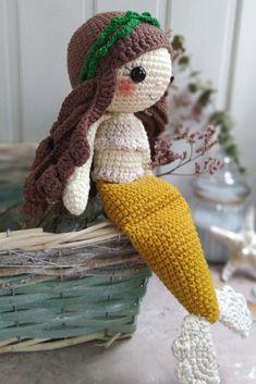 СХЕМА вязания куклы русалочки крючком #амигуруми #схемыамигуруми #вязанаяигрушка #игрушкикрючком #вязанаякукла #вязанаярусалка #amigurumipattern #crochetpattern #amigurumimermaid #crochetmermaid Crochet Hats, Amigurumi, Knitting Hats