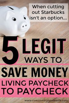These are the best! How to save money when you're living paycheck to paycheck. She's a pro about saving money on a low income! Tips and tricks to save money money. Easy ways to save more money when you're living between paychecks. Real ways to save money.