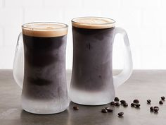 Pitch Dark Coffee Stout : The double dose of coffee (in both espresso and liqueur form) as well as sweet black currants bring out the chocolatey best in a stout beer. Homebrew Recipes, Beer Recipes, Coffee Recipes, Chilled Beer, Pitch Dark, Coffee Industry, Coffee Cocktails, Beer Mugs, Home Brewing