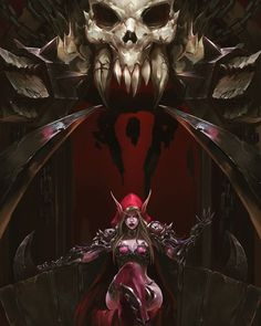 Warchief Sylvanas by Jean Cheng World of Warcraft Art Board ^^ // Blizzard // wow // // Digital // Windrunner // Forsaken // Horde Dark Fantasy Art, Fantasy Women, Fantasy Girl, Fantasy Artwork, World Of Warcraft 3, Warcraft Art, Heroes Of The Storm, Warcraft Characters, Fantasy Characters