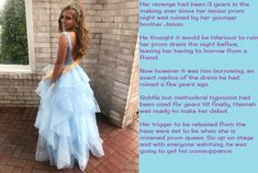 Prom Vengeance (Claire Cap) By Courtneycaptisa Boy Dressed As A Girl Captions Deviantart November 01 2019 at Prom Captions, Girly Captions, Forced Tg Captions, Transgender Captions, Transgender Girls, Dress Up Storage, Humiliation Captions, Captions Feminization, Girls Dresses