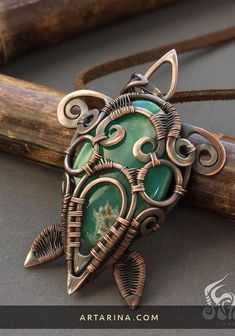 Custom Jewelry, Jewelry Art, Jewelry Design, Beach Jewelry, Wire Wrapped Pendant, Wire Wrapped Jewelry, Copper Jewelry, Gemstone Jewelry, Copper Wire