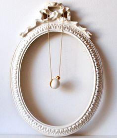 Collar Esferas oro Porcelana Cerámica Porcelana Regalos