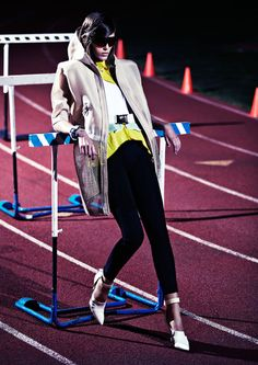 "Steven Pan photographs ""Track & Field"" in Interview, May 2012"