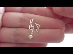 Music Note & Treble Clef Stud Earrings | NO SOLDERING | Wire Jewelry - YouTube