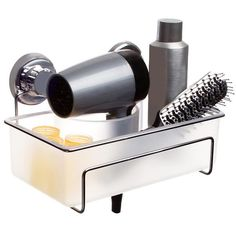 Hair Dryer Caddy - Ideal for the home! I can never figure out how to store these products without making a mess.
