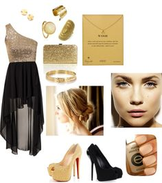 """vestido de gala"" by xic-s ❤ liked on Polyvore"