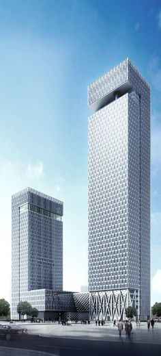 CASC International Center, Shenzhen, China :: 50 and 31 floors, height 230m and 130m