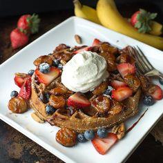 Banana Bread Waffles with Honey Caramelized Bananas Recipe Breakfast and Brunch…