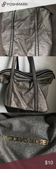Victoria's Secret glitter gold bag Gold Victoria's Secret bag . Clean . Smoke free home barely used can be folded over or worn scrunched at  top Victoria's Secret Bags