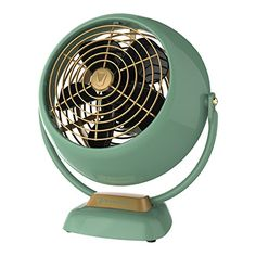 With its unique combination of power, aerodynamics and style, the Vornado Small Vintage Air Circulator Fan delivers whole room air circulation for smaller rooms. This fan features the original classic design from its initial 1945 release. Vornado Fan, Decoration Ikea, Decorations, Personal Fan, Desk Fan, Vintage Fans, Vintage Style, Vintage Room, Vintage Kitchen