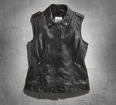 Harley Davidson-Women's Lexi Leather Vest $195.00