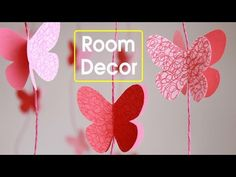 DIY - Room Decoration Ideas With Paper | - YouTube