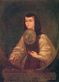 Sor Juana Inés de la Cruz (12 November 1651 – 17 April 1695)