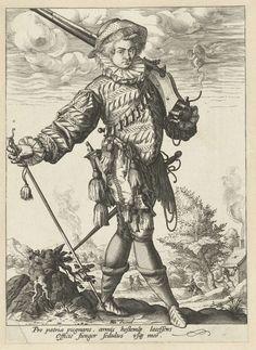 Musketier, Hendrick Goltzius, 1585 - 1589
