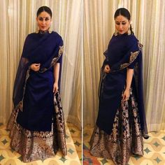 Kareena Kapoor Khan has been declared as the brand ambassador of a tea brand and the actress is currently in Goa to attend the brand's event - Begum Kareena Kapoor Khan looks regal in her latest outing in Goa - View Pics Designer Kurtis, Designer Dresses, Pakistani Dresses, Indian Dresses, Indian Outfits, Ethnic Outfits, Mode Bollywood, Bollywood Fashion, Bollywood Saree