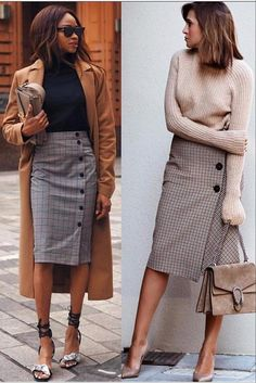 Wear to Work Outfit Ideas. Womens Casual Office Fashion ideas and dresses. Womens Work Clothes Trending in 34 Outfit ideas. Mode Outfits, Office Outfits, Stylish Outfits, Fashion Outfits, Fashion Trends, Office Attire, Woman Outfits, Preppy Skirt Outfits, Fashion Clothes